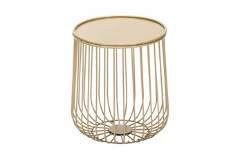 Gold Wire Outdoor Side Table