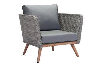 Riviera Outdoor Natural And Gray Arm Chair