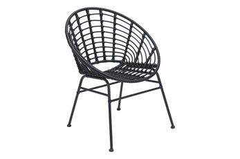 Shell Outdoor Black Dining Chair Set Of 2