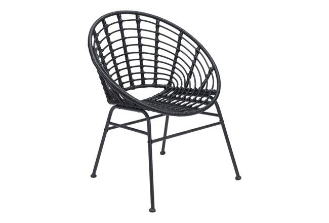 Shell Outdoor Black Dining Chair Set Of 2 - 360