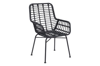 Mcgrath Black Outdoor Chair Set Of 2