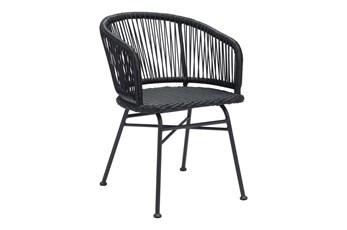 Mesa Outdoor Black Dining Chair Set Of 2