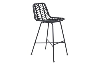 Sands Black Outdoor Bar Chair