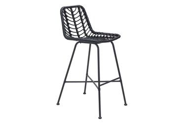 Sands Black Outdoor Bar Chair