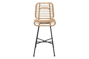 "Coral Outdoor Natural 28"" Bar Chair"