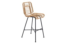 Coral Outdoor Natural Bar Chair
