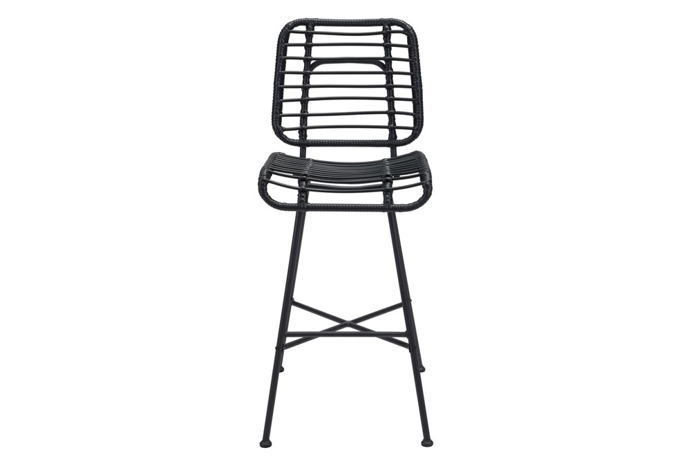 """Coral Outdoor Black 28"""" Bar Chair"""