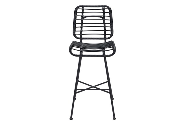 """Coral Outdoor Black 28"""" Bar Chair - 360"""