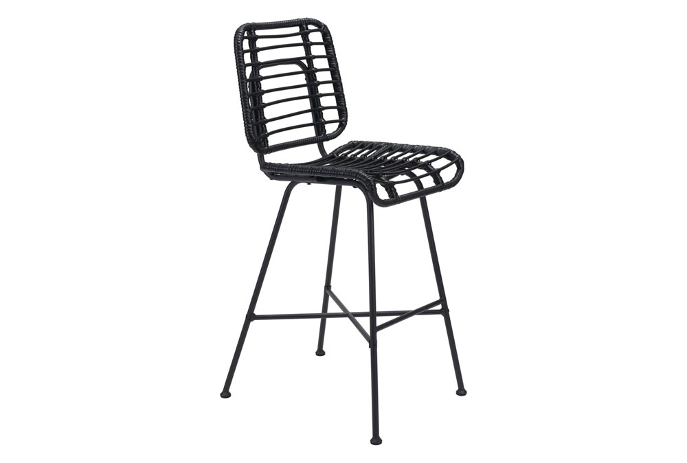 Coral Outdoor Black Bar Chair