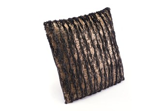 Accent Pillow-Waves Black & Gold 18X18