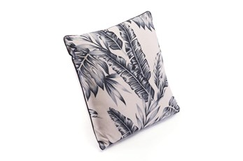 Accent Pillow-Leaves Black & Beige 18X18