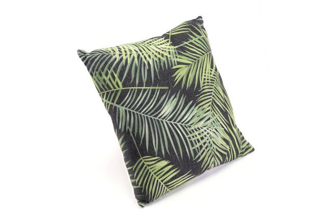 Accent Pillow-Tropical Black & Green 18X18 - 360