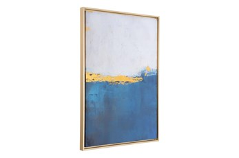 Picture-Blue Ocean Framed Canvas