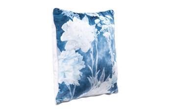 Accent Pillow-Floral Blue 18X18