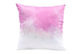 Accent Pillow-Splash Pink & White 18X18