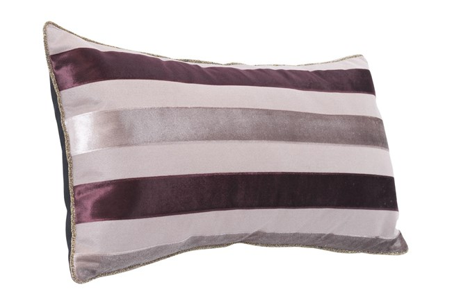 Accent Pillow-Stripes Gray 11X22 - 360
