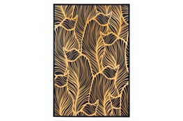 Picture-Black And Gold Palm Canvas