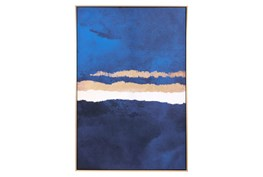 Picture-Multicolor Ocean Framed Canvas