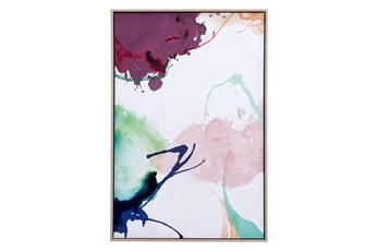 Picture-Multicolor Abstract Framed Canvas