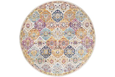 """6'6""""x9' Oval Rug-Traditional Bold Multicolor"""