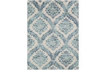 94X123 Rug-Cottage Blue And Ivory