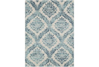 """7'8""""x10'3"""" Rug-Cottage Blue And Ivory"""
