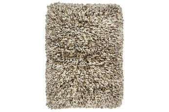 96X120 Rug-Modern Shag Light Sand