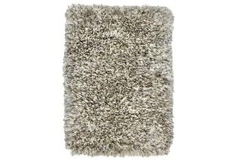 2'x3' Rug-Modern Shag Light Gray