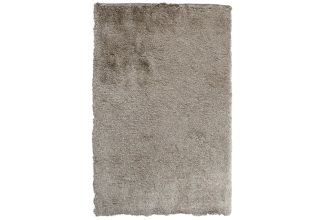 96X120 Rug-Modern Luxe Taupe Shag - 360