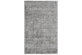 2'x3' Rug-Modern Distressed Dove Gray Woven