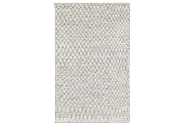 2'x3' Rug-Modern Heathered Wool Ivory - 360