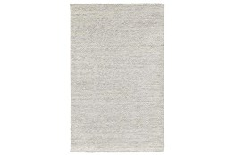 60X96 Rug-Modern Heathered Wool Ivory