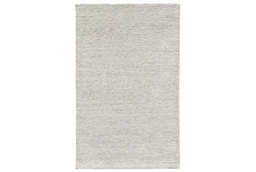 5'x8' Rug-Modern Heathered Wool Ivory