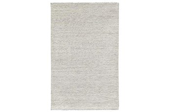 96X120 Rug-Modern Heathered Wool Ivory
