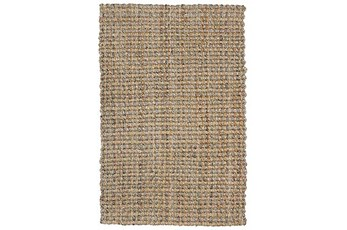60X96 Rug-Rustic Natural Gray Jute