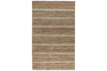 60X96 Rug-Rustic Ivory Natural Stripe