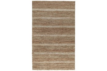 96X120 Rug-Rustic Ivory Natural Stripe