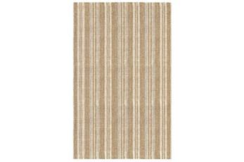 96X120 Rug-Modern Stripe Seagrass Ivory