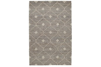 "2'6""x8' Runner Rug-Traditional Diamond Stone Gray"