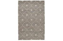 60X96 Rug-Traditional Diamond Stone Gray