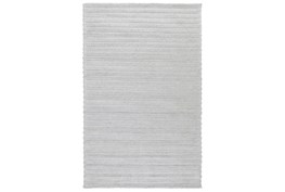 2'x3' Rug-Modern Cloud Gray Plush Wool Blend