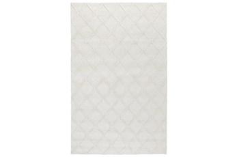 96X120 Rug-Modern Pearl Wool Blend