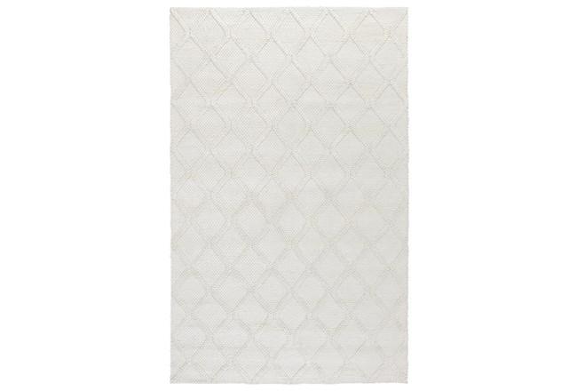108X144 Rug-Modern Pearl Wool Blend    - 360