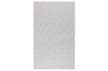 96X120 Rug-Modern Cloud Gray Wool Blend