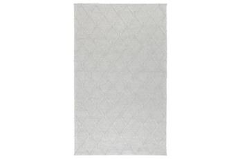 108X144 Rug-Modern Cloud Gray Wool Blend