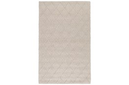 60X96 Rug-Modern Latte Wool Blend