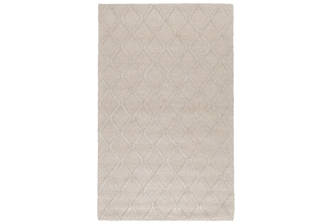 96X120 Rug-Modern Latte Wool Blend    - 360