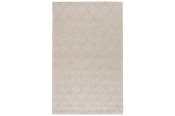108X144 Rug-Modern Latte Wool Blend