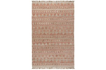 31.2X96 Runner Rug-Modern Distressed Terracotta Natural