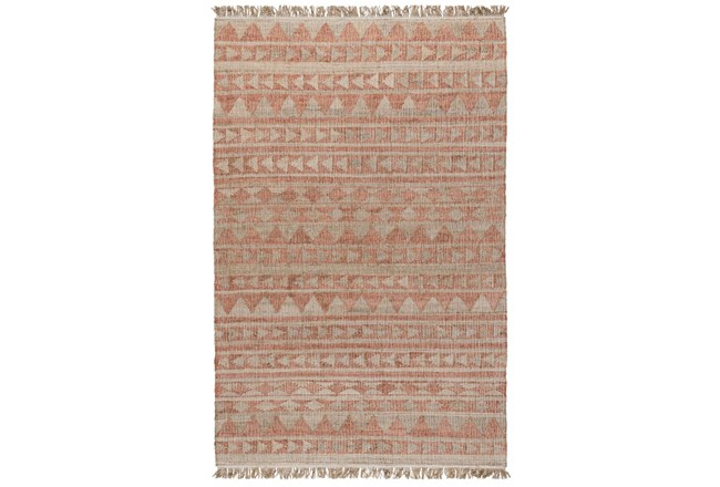 60X96 Rug-Modern Distressed Terracotta Natural - 360